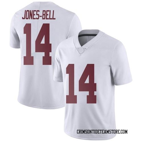 Men's Nike Thaiu Jones-Bell Alabama Crimson Tide Limited White Football College Jersey