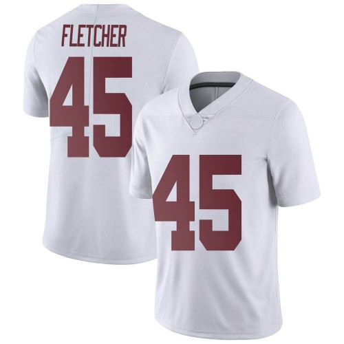 Men's Nike Thomas Fletcher Alabama Crimson Tide Limited White Football College Jersey