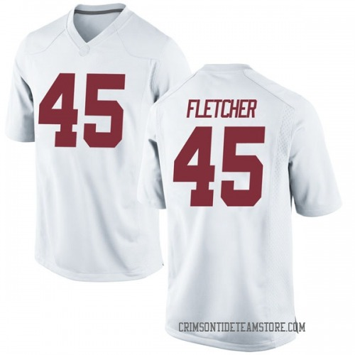 Men's Nike Thomas Fletcher Alabama Crimson Tide Replica White Football College Jersey
