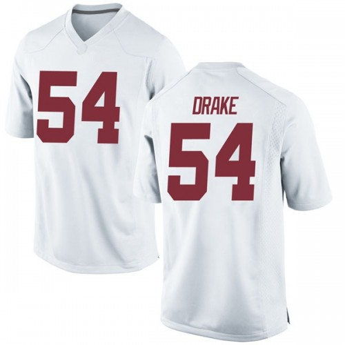 Men's Nike Trae Drake Alabama Crimson Tide Game White Football College Jersey