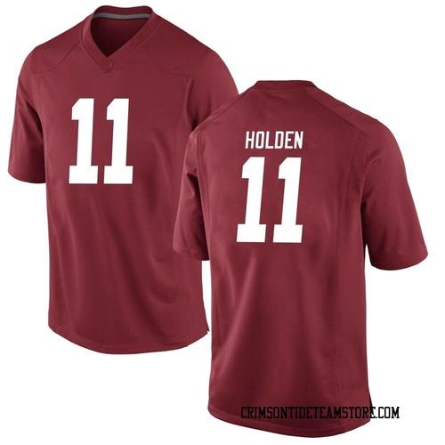 Men's Nike Traeshon Holden Alabama Crimson Tide Game Crimson Football College Jersey