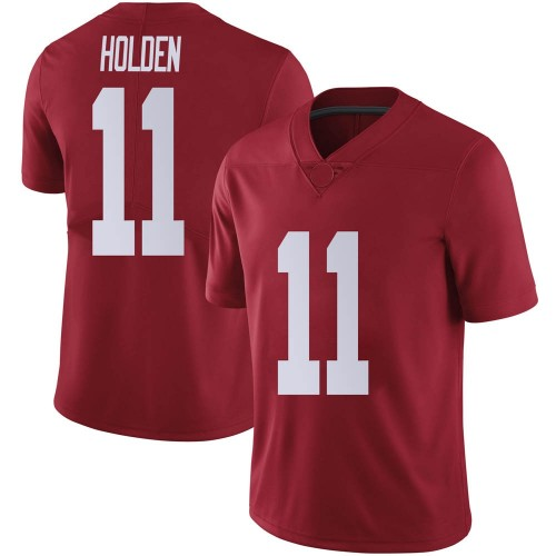Men's Nike Traeshon Holden Alabama Crimson Tide Limited Crimson Football College Jersey