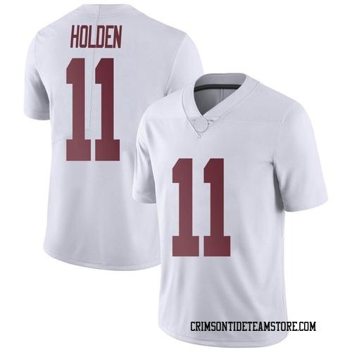 Men's Nike Traeshon Holden Alabama Crimson Tide Limited White Football College Jersey