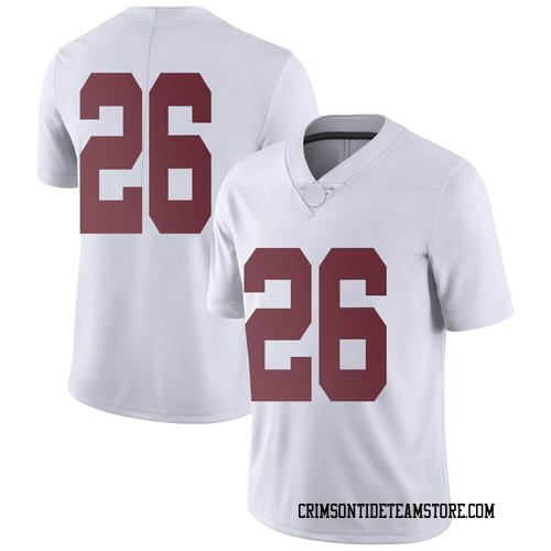Men's Nike Trey Sanders Alabama Crimson Tide Limited White Football College Jersey