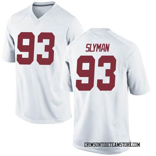 Men's Nike Tripp Slyman Alabama Crimson Tide Game White Football College Jersey