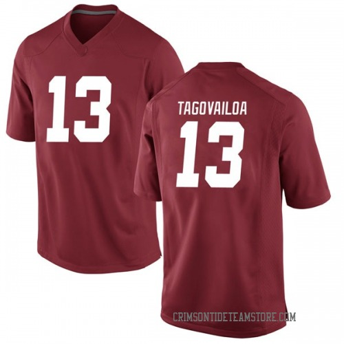 Men's Nike Tua Tagovailoa Alabama Crimson Tide Game Crimson Football College Jersey