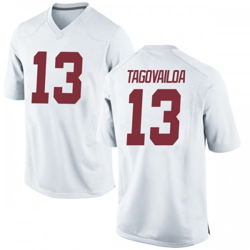 Men's Nike Tua Tagovailoa Alabama Crimson Tide Game White Football College Jersey