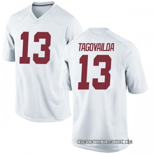 Men's Nike Tua Tagovailoa Alabama Crimson Tide Replica White Football College Jersey