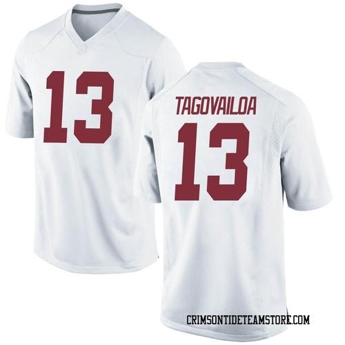 Men's Nike Tua Tagovailoa Alabama Crimson Tide Replica White Football College Jersey