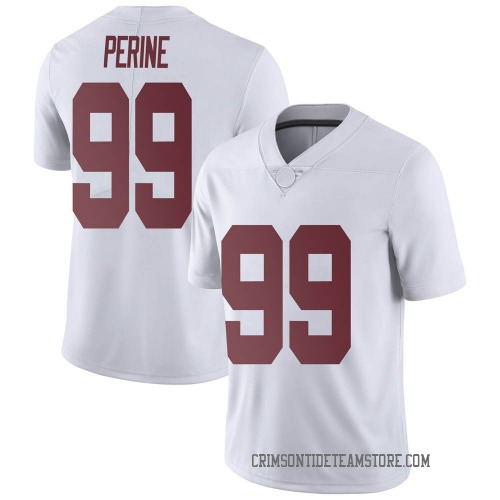 Men's Nike Ty Perine Alabama Crimson Tide Limited White Football College Jersey