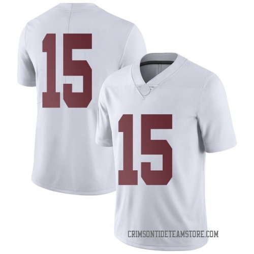 Men's Nike Tyler Barnes Alabama Crimson Tide Limited White Football College Jersey