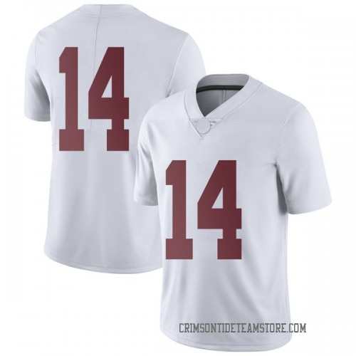Men's Nike Tyrell Shavers Alabama Crimson Tide Limited White Football College Jersey
