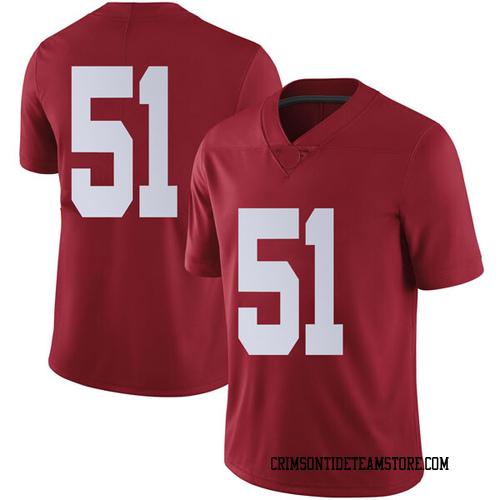 Men's Nike Wes Baumhower Alabama Crimson Tide Limited Crimson Football College Jersey