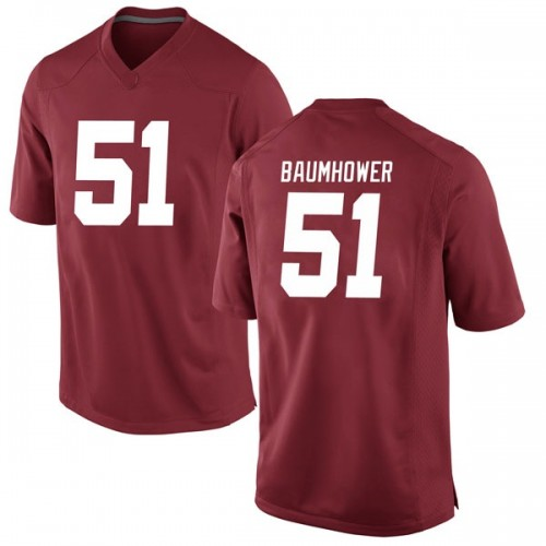 Men's Nike Wes Baumhower Alabama Crimson Tide Replica Crimson Football College Jersey