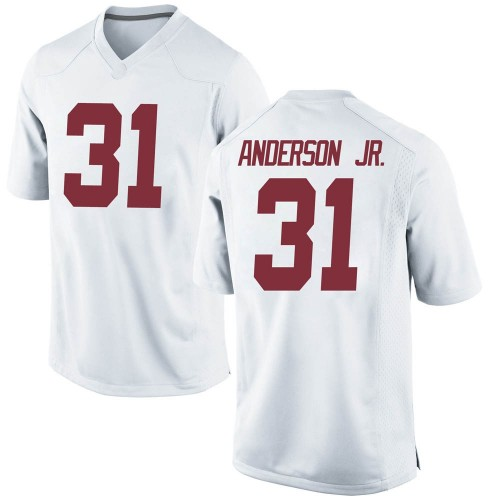 Men's Nike Will Anderson Jr. Alabama Crimson Tide Game White Football College Jersey