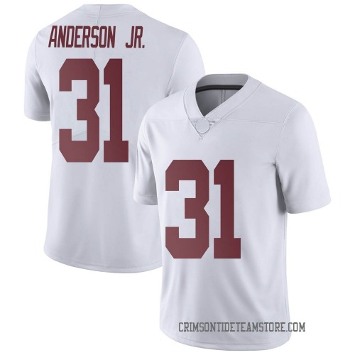 Men's Nike Will Anderson Jr. Alabama Crimson Tide Limited White Football College Jersey