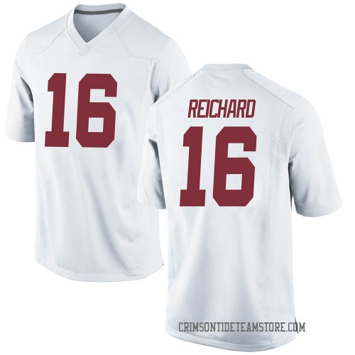 Men's Nike Will Reichard Alabama Crimson Tide Game White Football College Jersey
