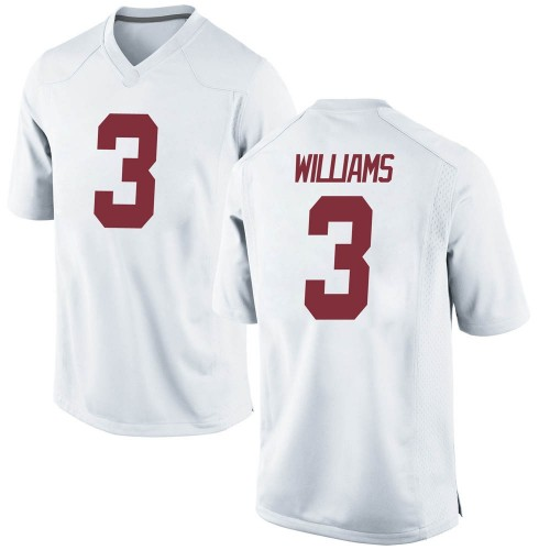 Men's Nike Xavier Williams Alabama Crimson Tide Game White Football College Jersey
