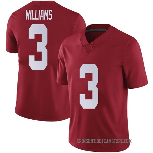 Men's Nike Xavier Williams Alabama Crimson Tide Limited Crimson Football College Jersey