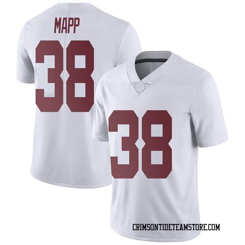 Men's Nike Zavier Mapp Alabama Crimson Tide Limited White Football College Jersey