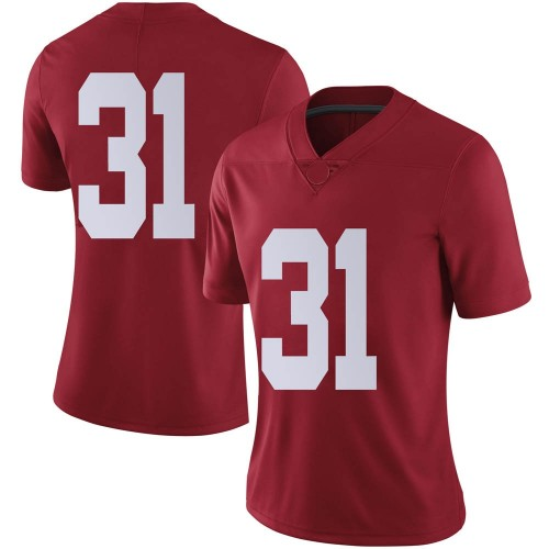 Women's Nike A.J. Gates Alabama Crimson Tide Limited Crimson Football College Jersey