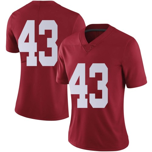 Women's Nike A.J. Gates Alabama Crimson Tide Limited Crimson Football College Jersey
