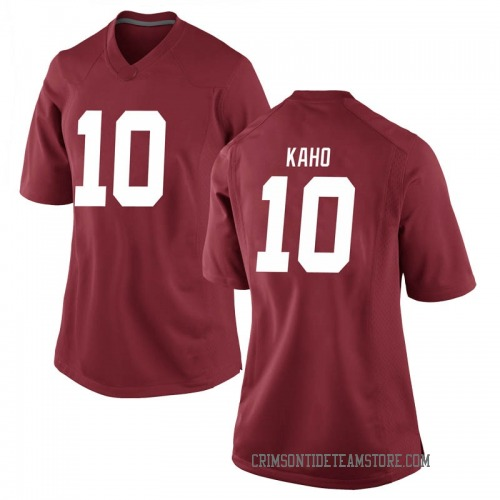 Women's Nike Ale Kaho Alabama Crimson Tide Game Crimson Football College Jersey