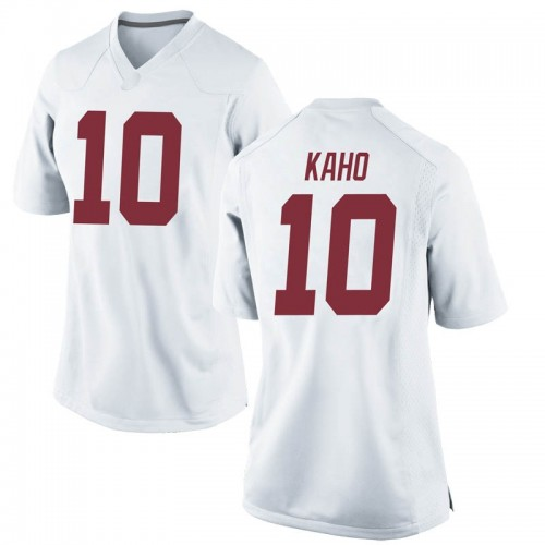 Women's Nike Ale Kaho Alabama Crimson Tide Game White Football College Jersey