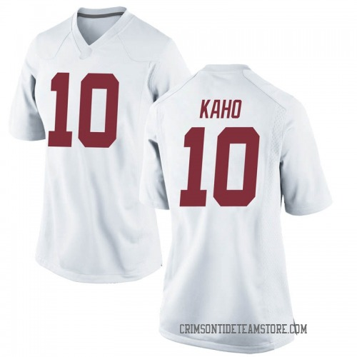 Women's Nike Ale Kaho Alabama Crimson Tide Replica White Football College Jersey