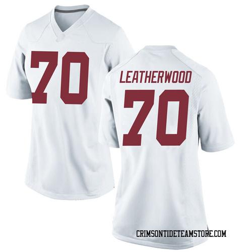 Women's Nike Alex Leatherwood Alabama Crimson Tide Game White Football College Jersey