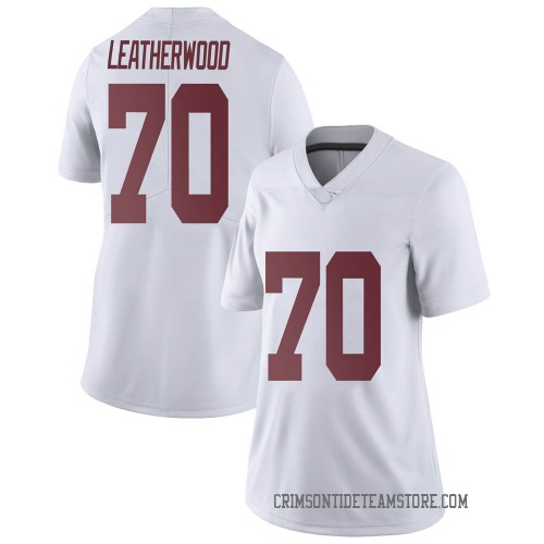 Women's Nike Alex Leatherwood Alabama Crimson Tide Limited White Football College Jersey