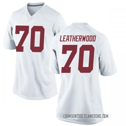 Women's Nike Alex Leatherwood Alabama Crimson Tide Replica White Football College Jersey