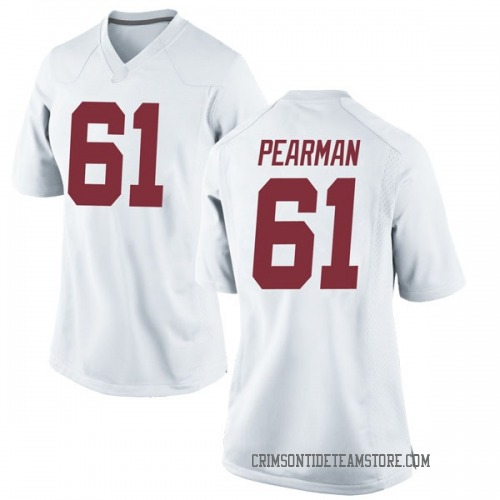 Women's Nike Alex Pearman Alabama Crimson Tide Game White Football College Jersey