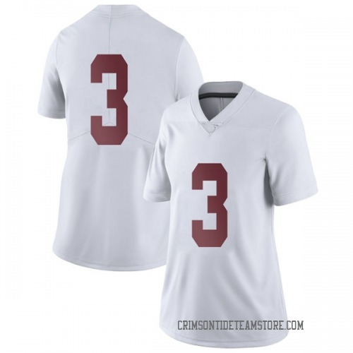 Women's Nike Alex Reese Alabama Crimson Tide Limited White Football College Jersey