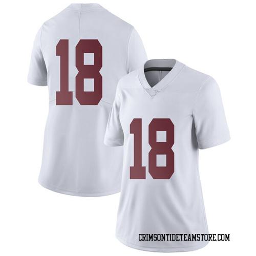 Women's Nike Austin Jones Alabama Crimson Tide Limited White Football College Jersey