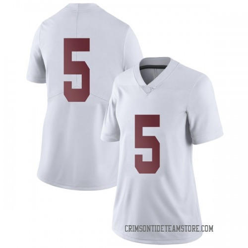 Women's Nike Avery Johnson Jr. Alabama Crimson Tide Limited White Football College Jersey