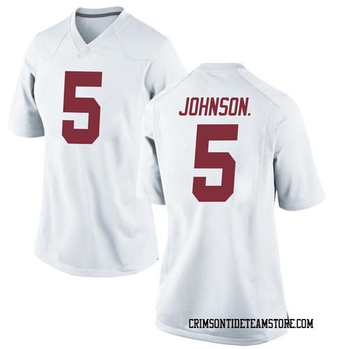 Women's Nike Avery Johnson Jr. Alabama Crimson Tide Replica White Football College Jersey