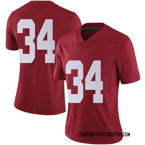 Women's Nike Brandon Bishop Alabama Crimson Tide Limited Crimson Football College Jersey