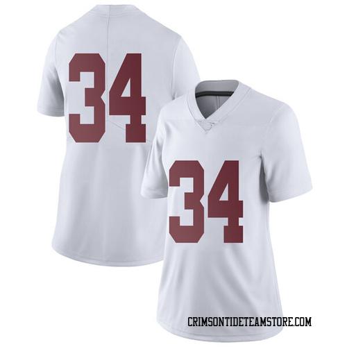 Women's Nike Brandon Bishop Alabama Crimson Tide Limited White Football College Jersey