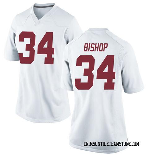 Women's Nike Brandon Bishop Alabama Crimson Tide Replica White Football College Jersey