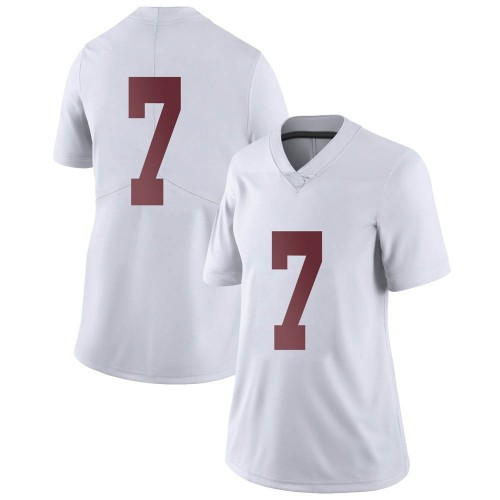 Women's Nike Brandon Turnage Alabama Crimson Tide Limited White Football College Jersey