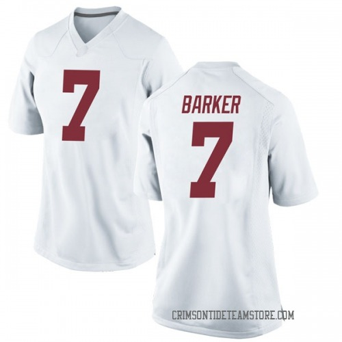 Women's Nike Braxton Barker Alabama Crimson Tide Game White Football College Jersey