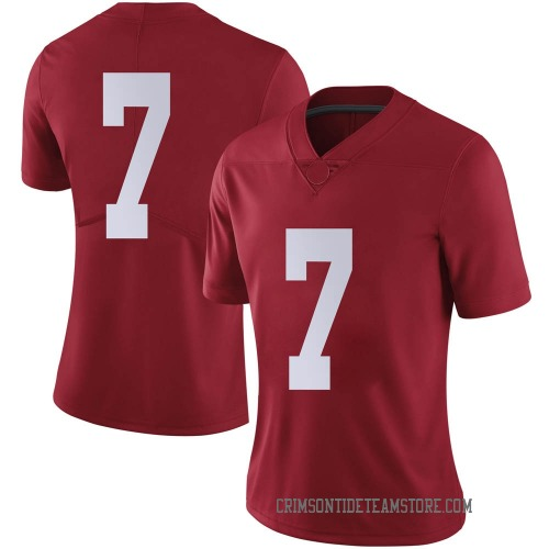 Women's Nike Braxton Barker Alabama Crimson Tide Limited Crimson Football College Jersey