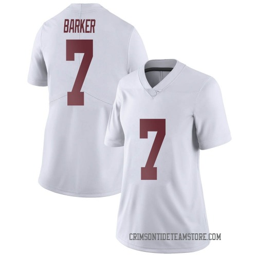 Women's Nike Braxton Barker Alabama Crimson Tide Limited White Football College Jersey