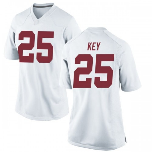 Women's Nike Braxton Key Alabama Crimson Tide Game White Football College Jersey