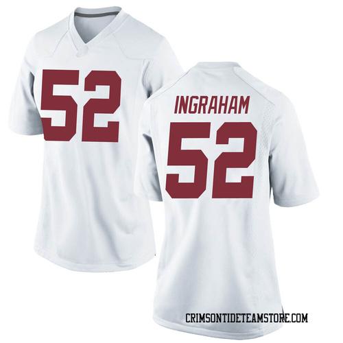 Women's Nike Braylen Ingraham Alabama Crimson Tide Replica White Football College Jersey