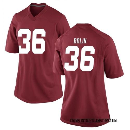Women's Nike Bret Bolin Alabama Crimson Tide Game Crimson Football College Jersey