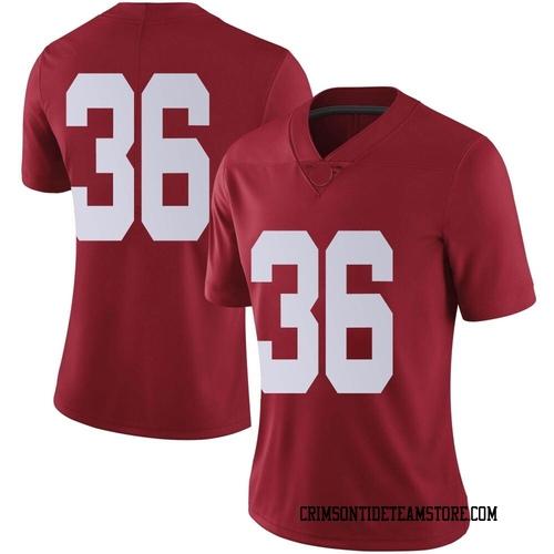 Women's Nike Bret Bolin Alabama Crimson Tide Limited Crimson Football College Jersey
