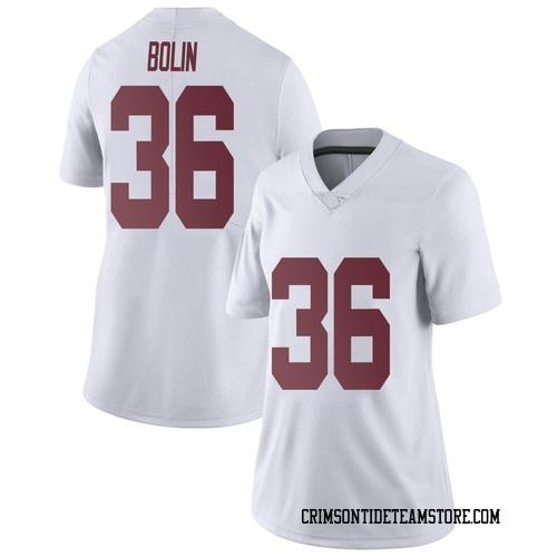Women's Nike Bret Bolin Alabama Crimson Tide Limited White Football College Jersey