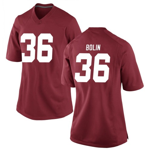 Women's Nike Bret Bolin Alabama Crimson Tide Replica Crimson Football College Jersey